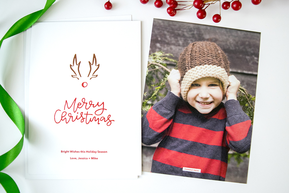 """New """"A Red-Nosed Christmas"""" Designer Holiday Photo Card by Rachel Joy"""