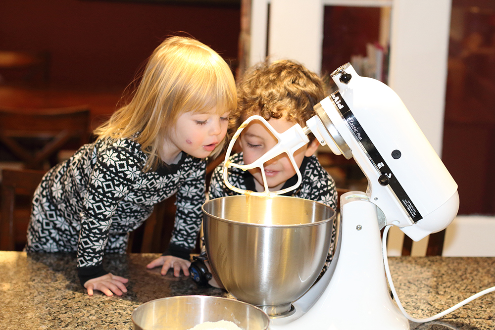Making Banana Bean Muffins with the kids