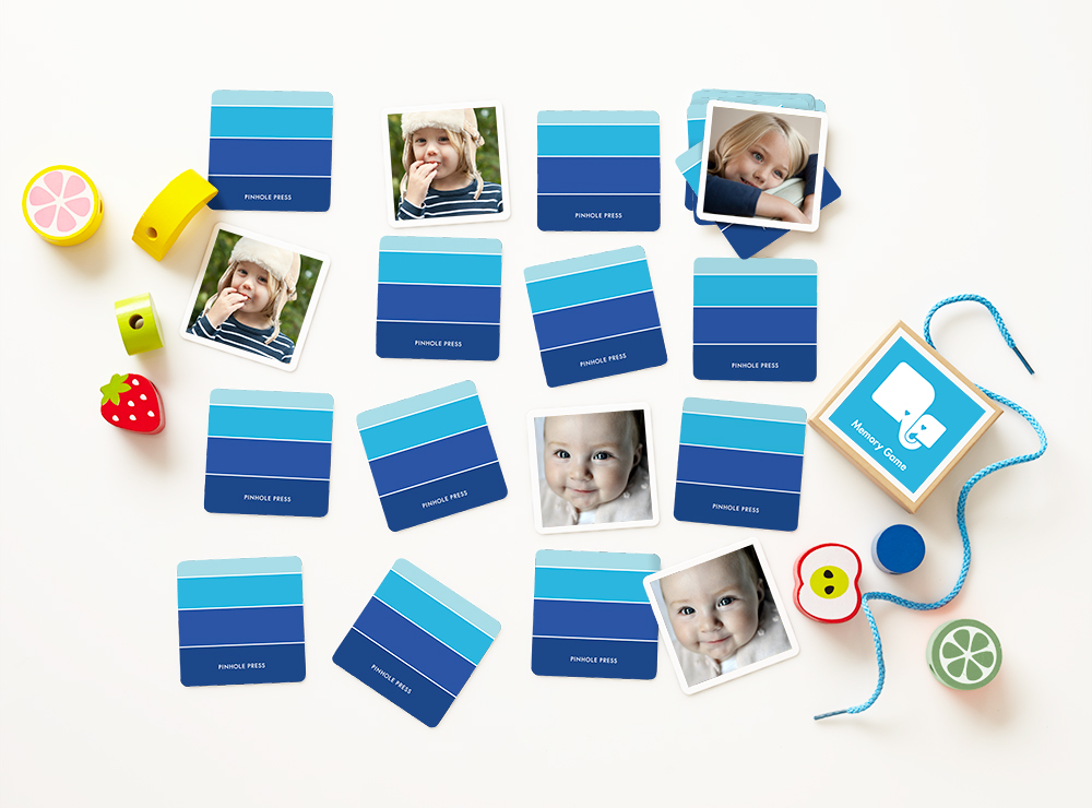 Pinhole Press Custom Photo Memory Game in Ombre