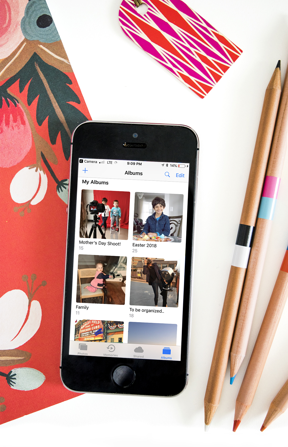 Tips for organizing photos on your phone - create albums