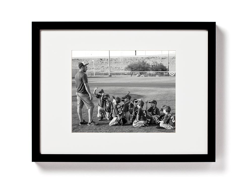 Coach Gift: Framed Print with team signatures