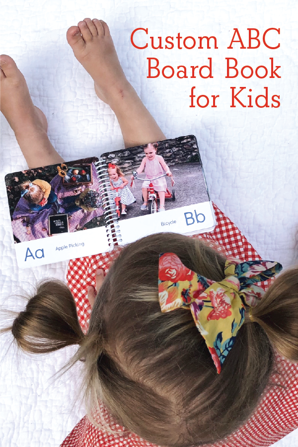 Custom ABC Board Book For Kids - Just add photos!