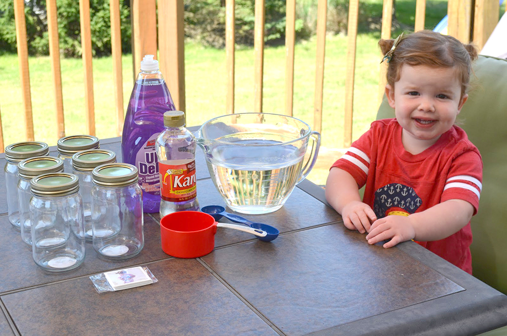 Ingredients for DIY Bubbles