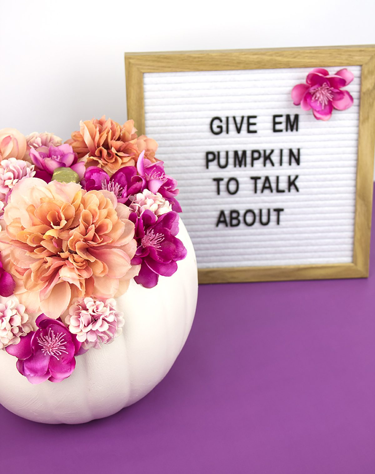 DIY Pretty Floral Painted Pumpkins for Fall