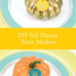 DIY Fall Dinner party place setting