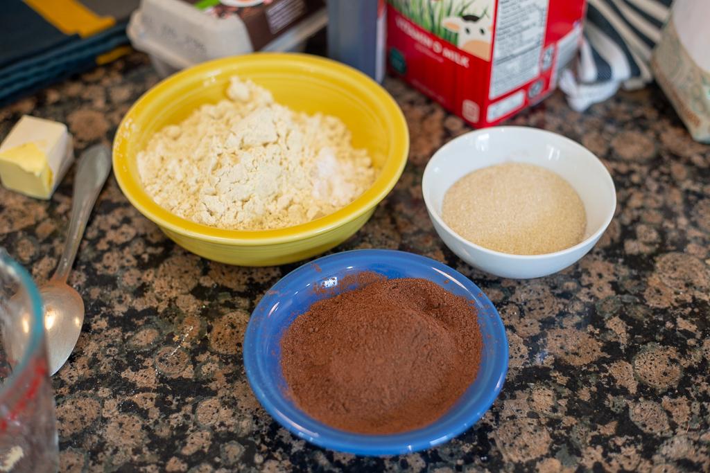 Chocolate Crinkle Cut Christmas Cookie Ingredients