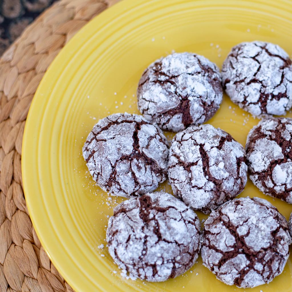 Chocolate Crinkle Cut Cookies
