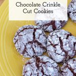 Chocolate Crinkle Cut Christmas Cookies