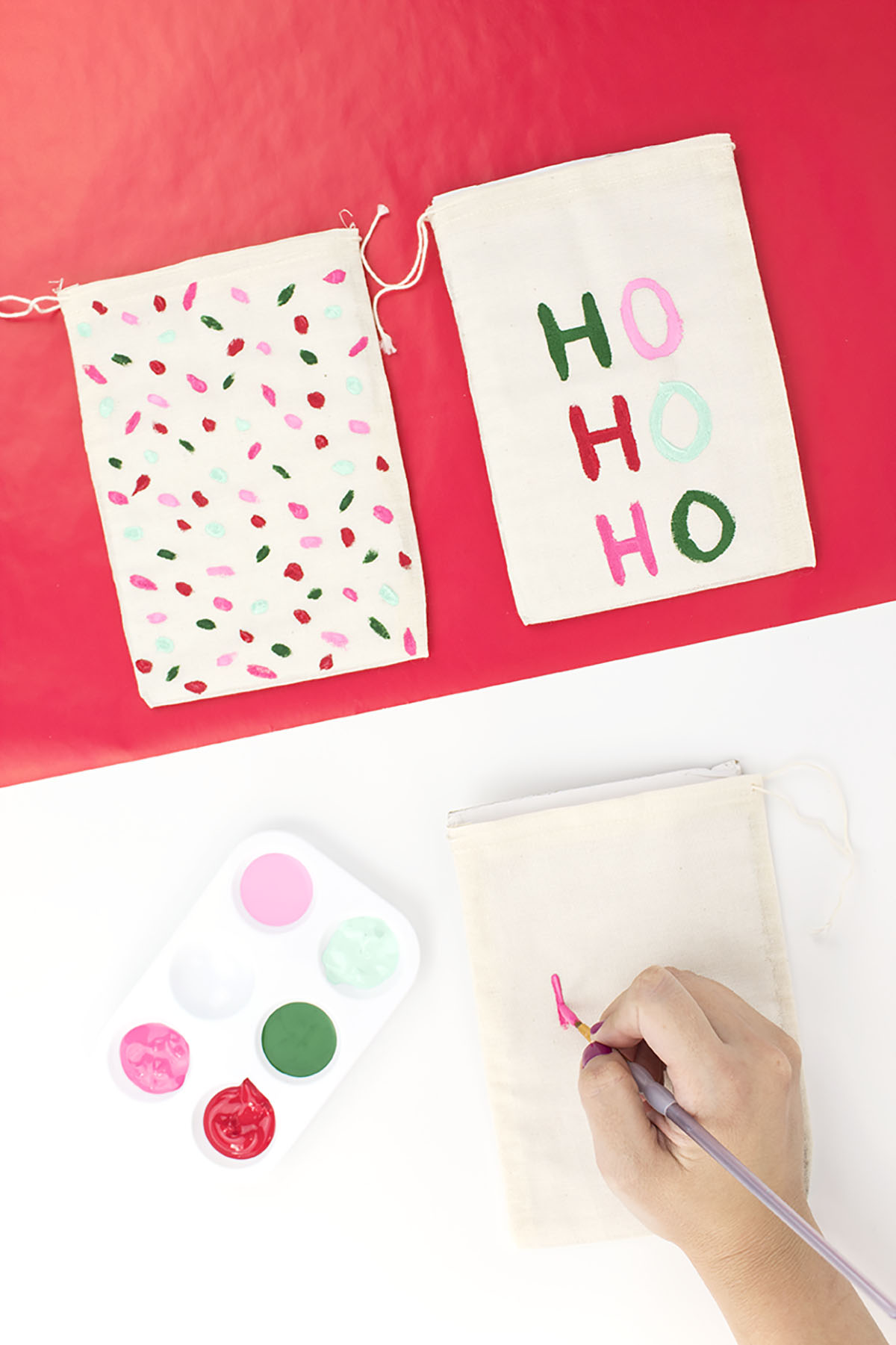 Christmas Pouch Paint