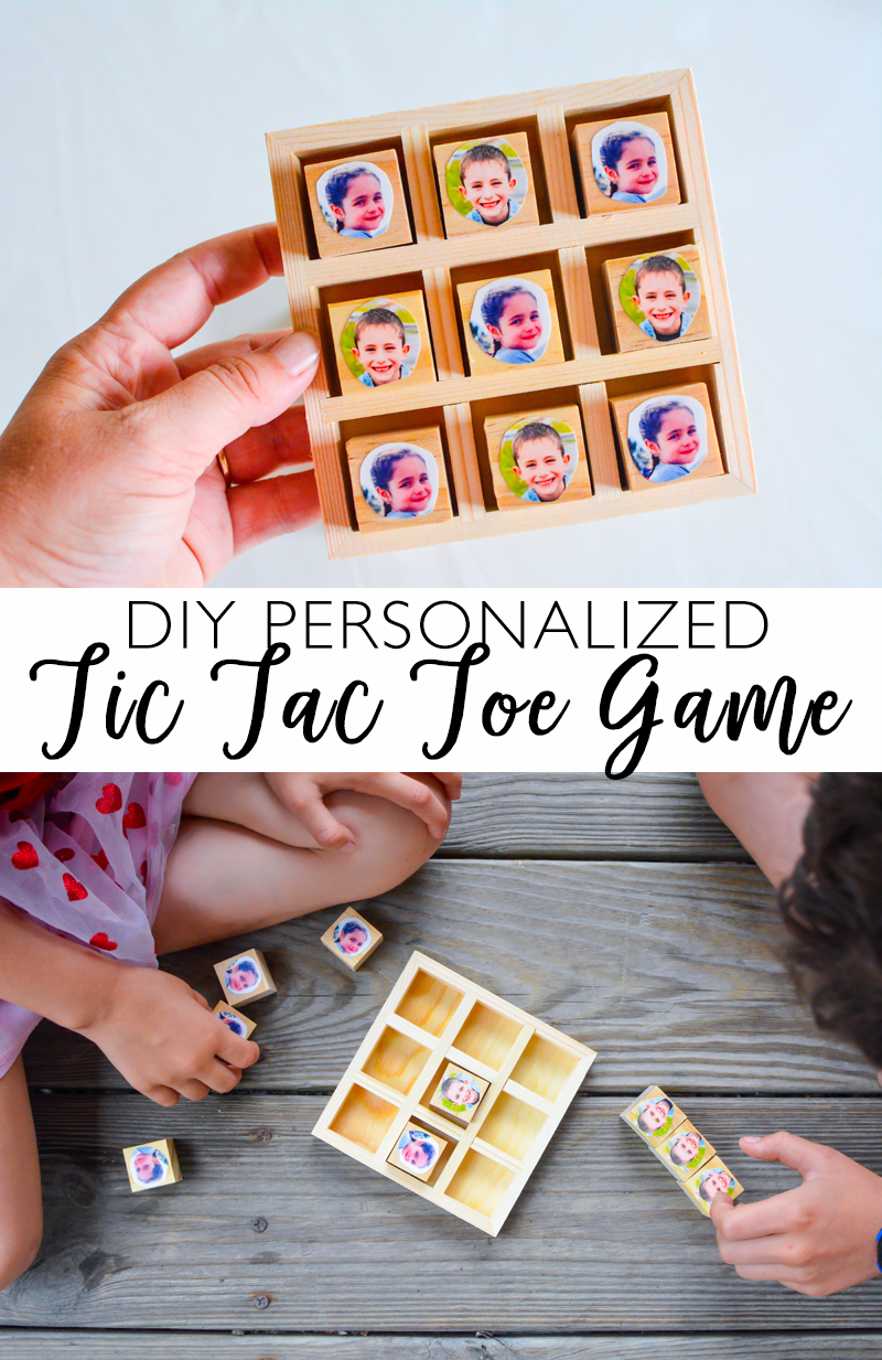 DIY Personalized Tic Tac Toe