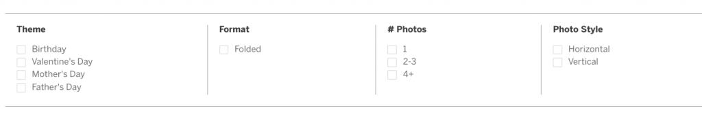 Pinhole Press Greeting Card Filters
