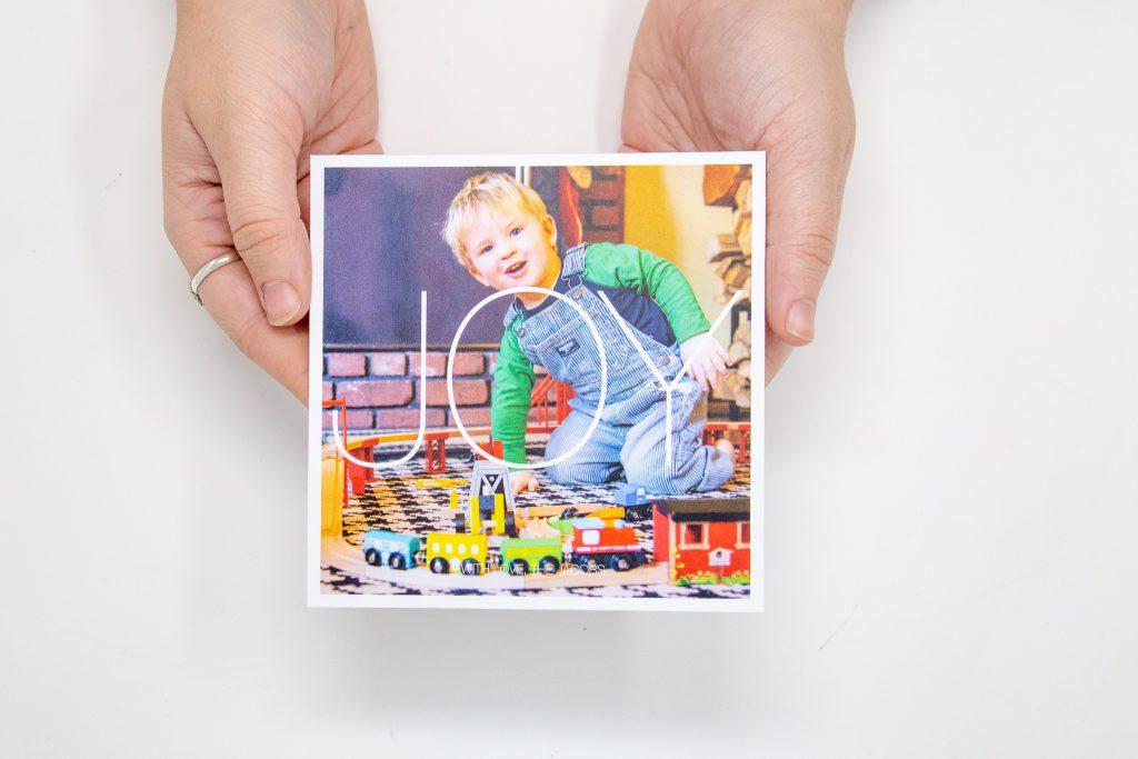 Joy Holiday Card by Pinhole Press