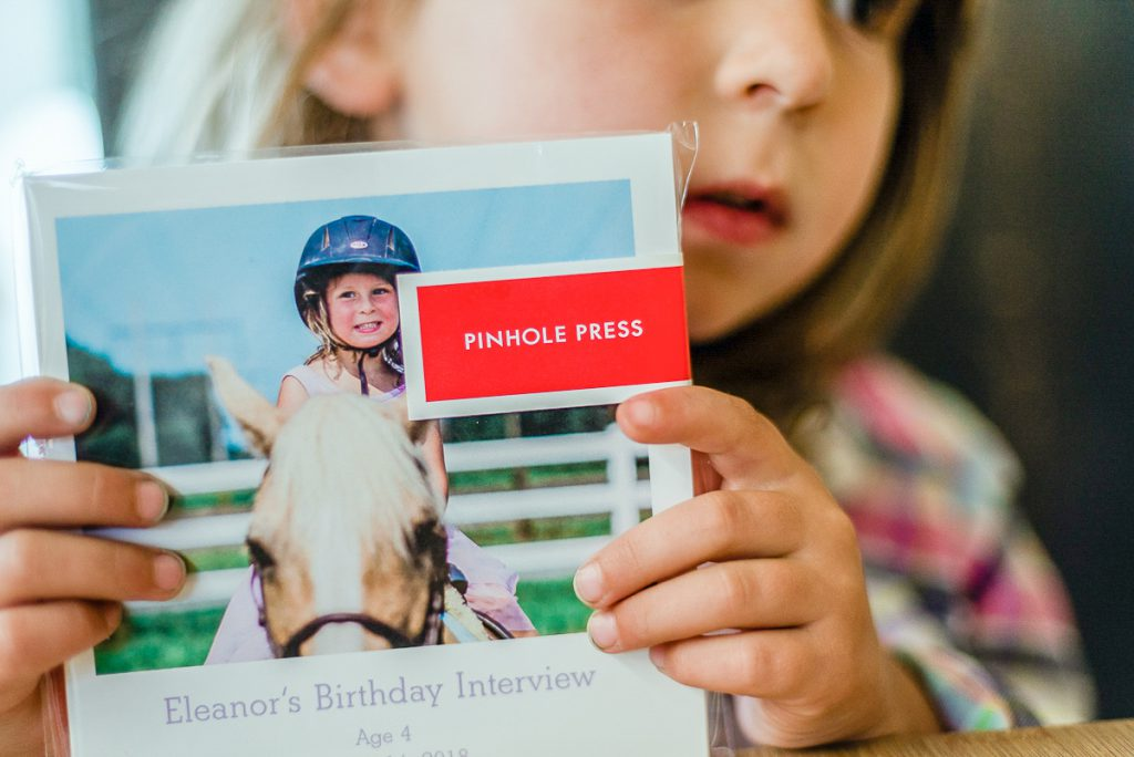 Birthday Interview Photo Book for Kids using a softcover photo book by Pinhole Press